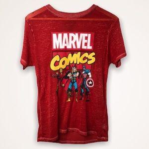 Marvel Comics T-Shirt Red Medium Boyfriend Fit